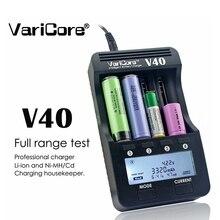 VariCore LCD V40 ładowarka 3.7V 18650 ładowarka 26650 16340 14500 18350 bateria litowa AA / AAA Ni MH bateria