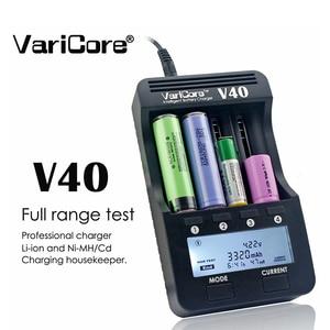 Image 1 - VariCore cargador de batería LCD V40, 3,7 V, 18650, 26650, 16340, 14500, 18350, batería de litio AA/AAA, Ni MH
