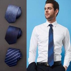 Высокое качество 2019 новые модные галстуки для мужчин бизнес 8 см Полосатый шелковый галстук свадебные галстуки для мужчин дизайнерский бре...