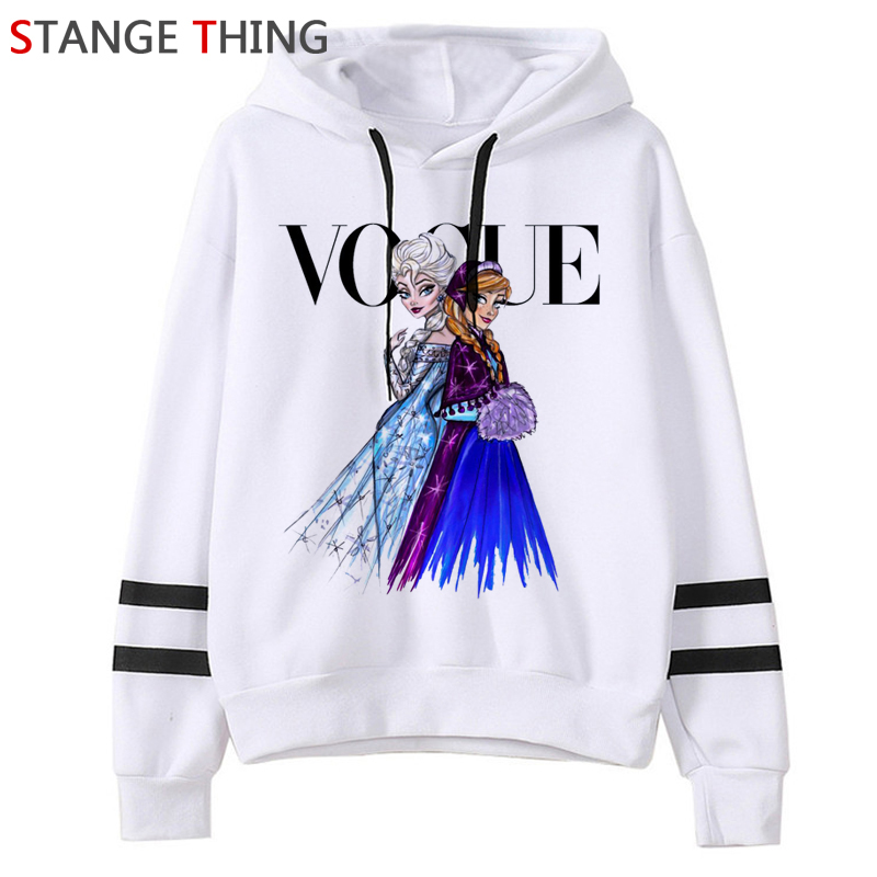Frozen 2 Harajuku Cartoon Funny Cartoon Hoodies Women Ullzang Kawaii Frozen Vogue Graphic Sweatshirt 90s Graphic Hoody Female