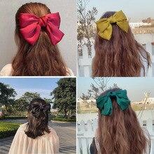 Головной убор с большим бантом, заколка для волос в стиле знаменитостей, Лолита, Красная атласная Шпилька, супер феи, заколка для волос на за...