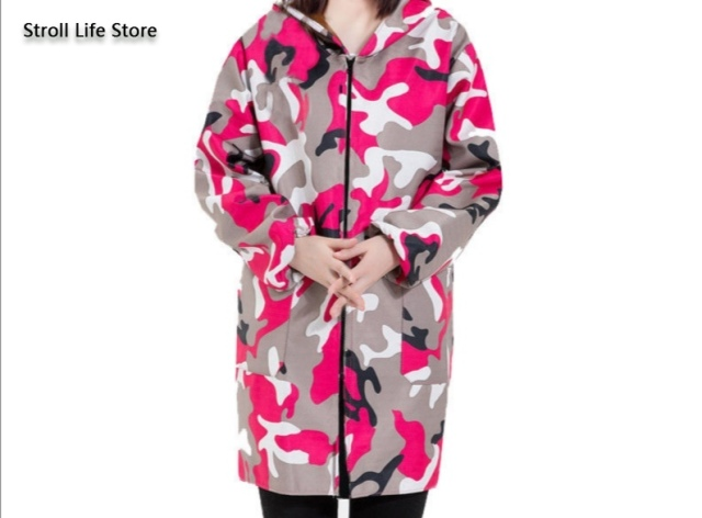 Camouflage Long Women Raincoat Rain Poncho Jackets Men Waterproof Coat Windbreaker Women Rainwear Gabardina Mujer Gift Ideas 4