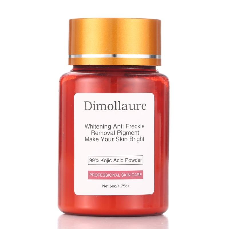 Dimollaure 50 г чистый 99% Kojic кислотный порошок отбеливающий крем для ухода за лицом удаление веснушек мелазмы акне пигментные пятна солнечных ожо...