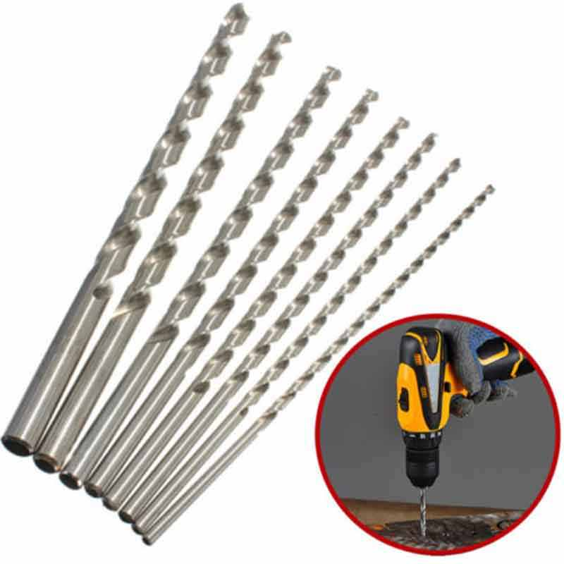 Trou de poche diamètre de gabarit 2-6mm Length160-300mm Extra Long HSS tige droite foret hélicoïdal herramientas para carpinteria