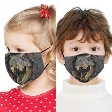 Moda algodão máscara facial para crianças pm2.5 anti-poeira ativado filtro de carbono máscara lavável reutilizável cubre boca reutilizável