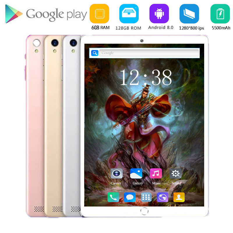 2020 New Glass 10 Inch Tablet Unlocked 8GB+128GB 4G LTE Android 8.0 Dual Sim Card Slots Dual Cameras WiFi GPS Tablet 10.1
