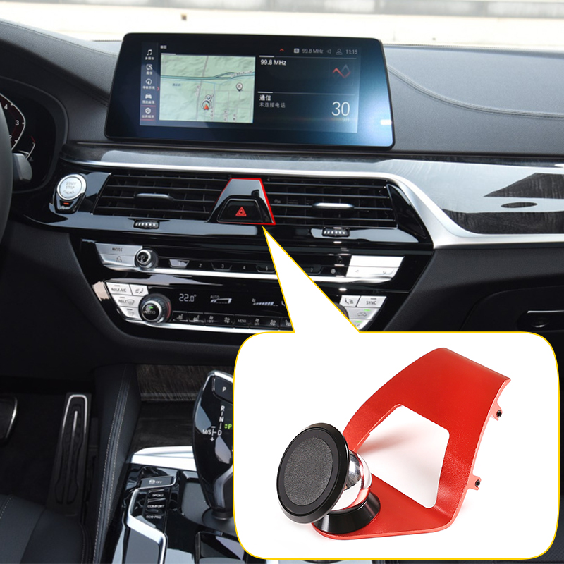 Aluminum alloy Car Outlet Mobile Phone Holder Navigation Bracket For BMW 5 Series G30 2018-2020 525li 530li Interior Accessories