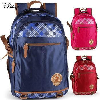 Original Disney Backpack Youth Burden Reduction Package Fashion Simple Style Backpack Schoolbags For Junior Middle School Studen rye time schoolbags boys and girls 2 4 6 years of load reduction girls 6 12 years burden reduction junior high children backpack