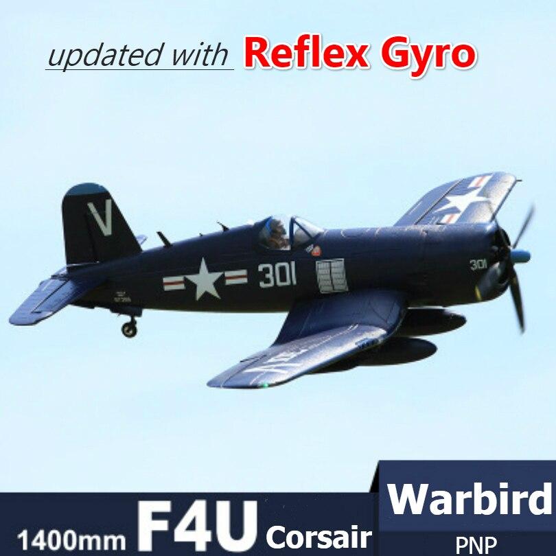 Радиоуправляемый самолет FMS 1400 мм 1,4 м F4U Corsir Blue 6CH с откатными щитками светодиодный PNP большой причудливый масштаб Warbird модель самолета Avion