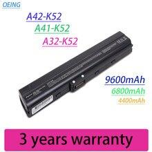 Bateria do portátil para ASUS k52 A32-K52 A31-K52 X52F X52J X52JB X52JC X52JE X52JG X52JK X52JR X52Jt X52JU X52JV k52j X52SG A42-K52