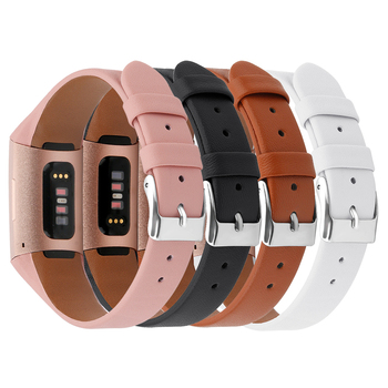 Leather Band For Fitbit Charge 3 4 Smart Bracelet Band Strap For Fitbit Charge 3 4 Geniune Watch Replacement