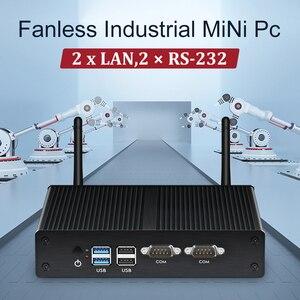 Image 5 - HLY ファンレスミニ Pc デュアル LAN Celeron N2830 J1800 J1900 Windows PC 2 * シリアルポート 2 * LAN WiFi HDMI VGA HTPC ミニコンピュータ
