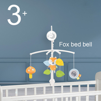 Baby Rattles Crib Mobiles Toy Holder Rotating Mobile Bed Bell Musical 0-12 Months Newborn Infant Baby Safety Seat Plush Toy 1