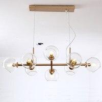 Kreatywna sztuka szklana do samodzielnego wykonania nowoczesna lampa wisząca żyrandol do skandynawskiej lampy wiszącej Loft w Wiszące lampki od Lampy i oświetlenie na