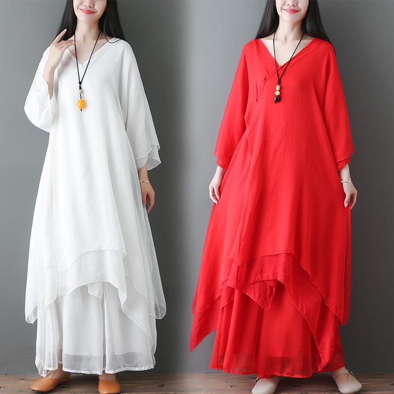 2020 Awareness Dance Clothing WOMEN'S Suit Chinese-style Zen Fairy Dress Tea Service Zen Clothing Two-Piece Set