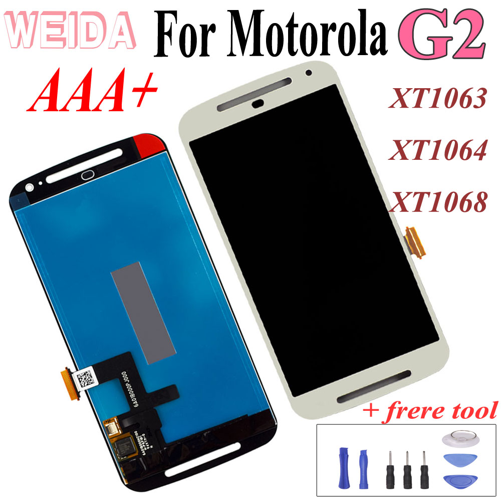 WEIDA For <font><b>Motorola</b></font> Moto G2 XT1063 XT1064 <font><b>XT1068</b></font> LCD <font><b>Display</b></font> Touch Screen Digitizer Assembly Replacement image