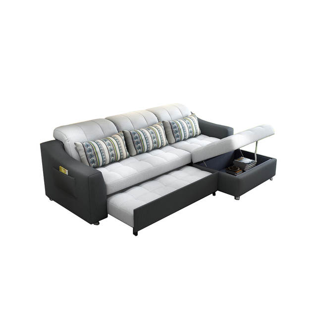 US $703.12 12% OFF|fabric sofa bed with storage living room furniture  couch/ living room cloth sofa bed sectional corner modern functional  headrest-in ...