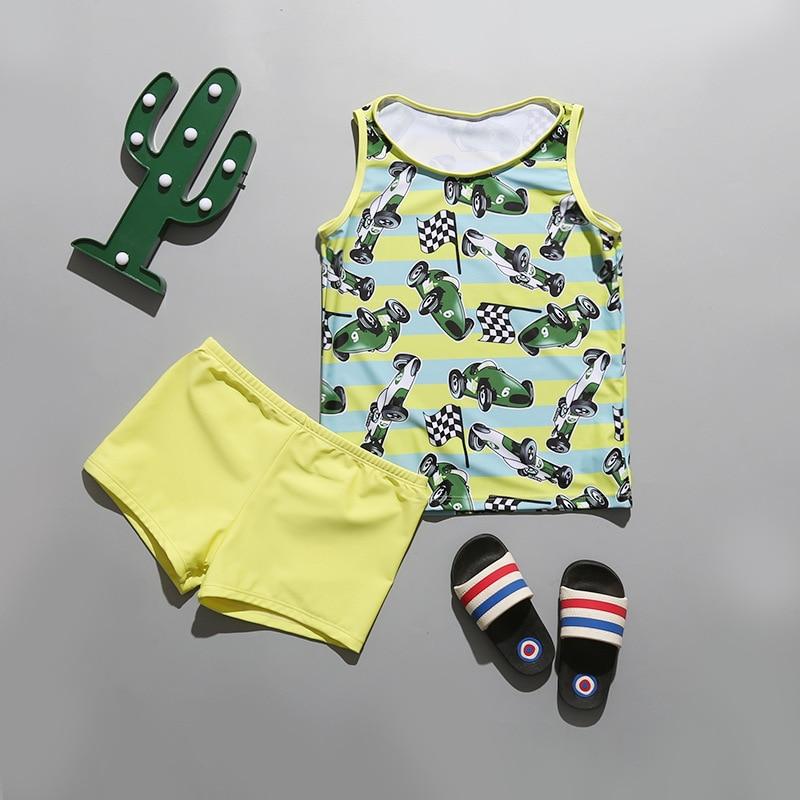 2018 Hot Sales CHILDREN'S Swimwear Cute Printed Sun-resistant Children 6-10-Year-Old BOY'S Split Type Shorts Swimwear
