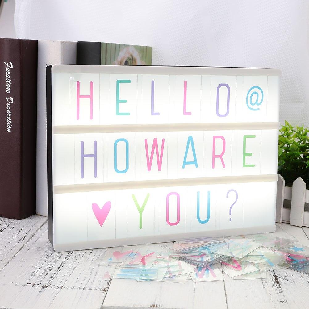 Cajas de luz Cinema Lightbox Led regalos herramientas cajas de tarjetas iluminación letras 85 Uds 85 Uds A4 A4 A4 tablero de repuesto para regalo DIY