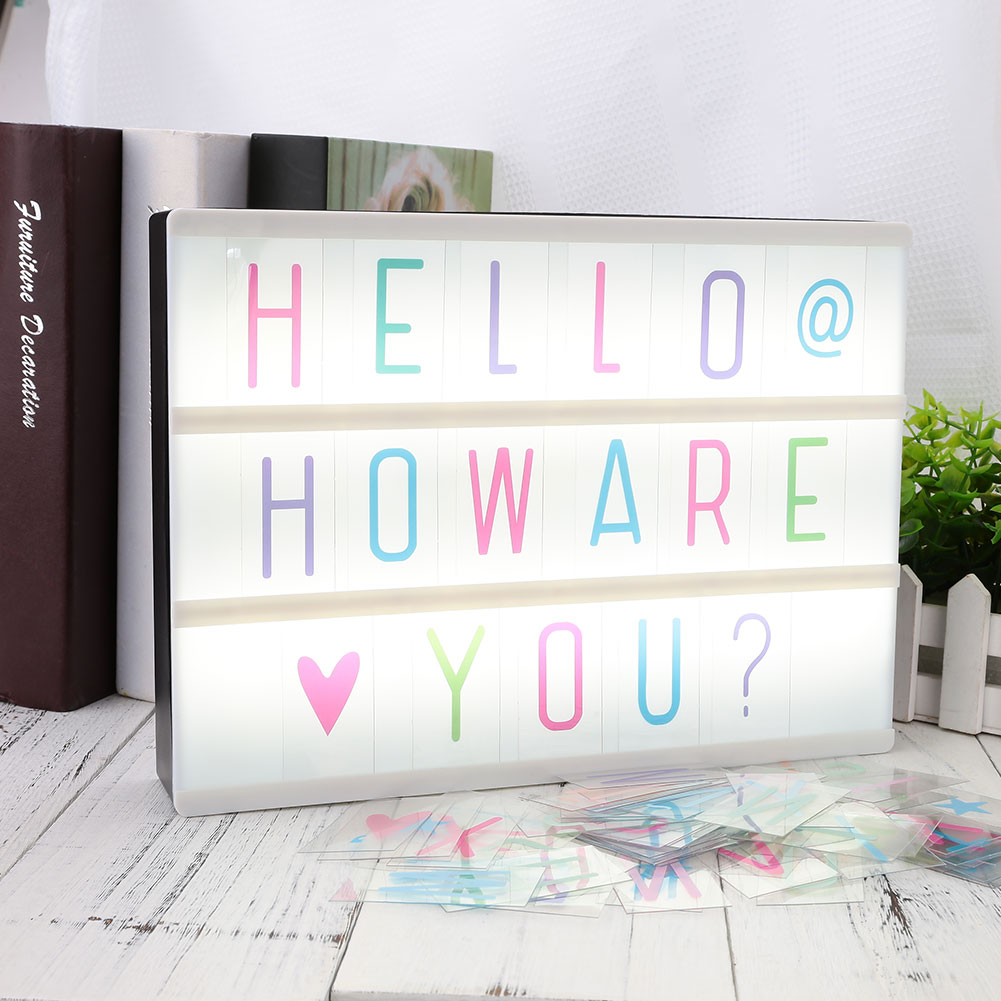 Light Boxes Cinema Lightbox Led Gifts Tool Card Boxes Lighting Letters 85pcs 85pcs A4 A4 A4 Replacement Board Up Gift DIY