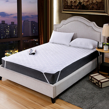 Mattress Topper Non-Slip QUILTED for Hotel Four-Corner Elastic-Belt Fix Anti-Dirty White