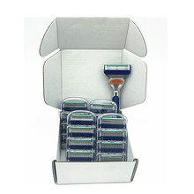 Custom Packaging 1 Holder 16 Blade Men 5Layer Shaver Razor Blades Shaving Cassettes Shaving Blades Replaceable Gilletee Fusione