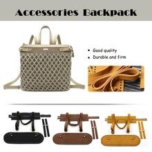 1 Set Diy Handmade Backpack Bag Accessories With Bags Strap Bag Bottoms Cover Drawstring Leather Handles For Women Handbag