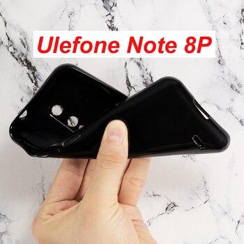 Перейти на Алиэкспресс и купить Ulefone Note 8P чехол силиконовый чехол Мягкий ТПУ Матовый Черный Защитный чехол для телефона Ulefone Note 8P стеклянный чехол