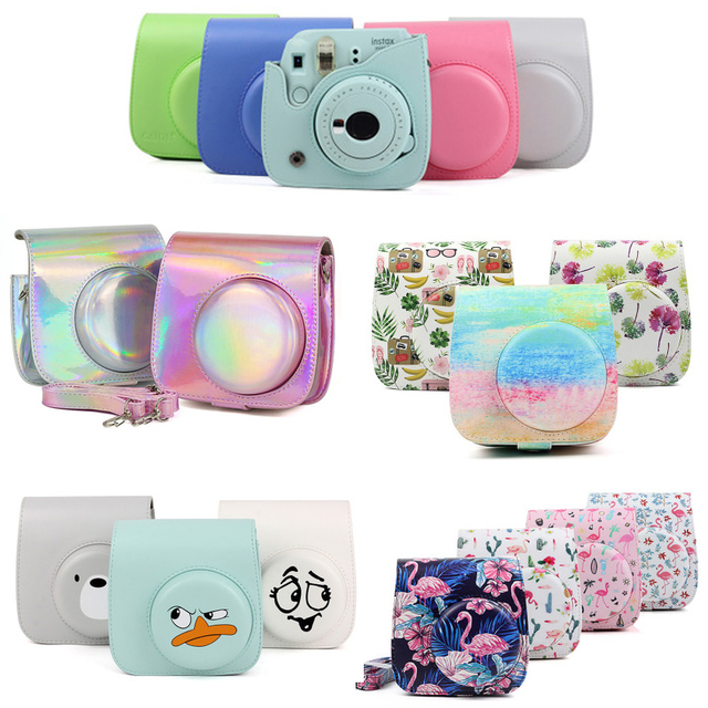 Fujifilm Instax Mini 9 8 8+ Camera Accessory Artist Oil Paint PU Leather Instant Camera Shoulder Bag Protector Cover Case Pouch