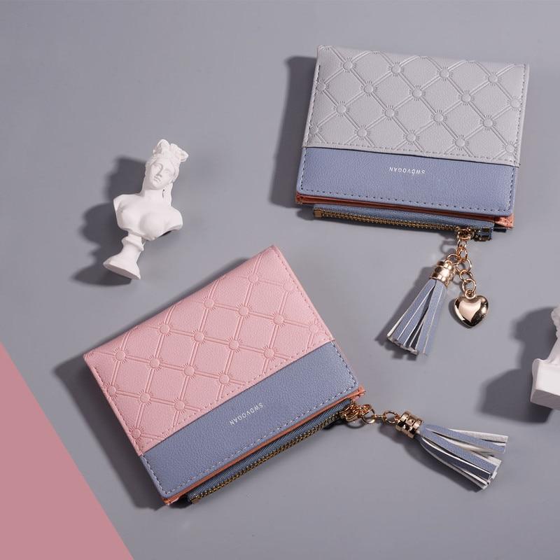 Tassel Leather Small Luxury Mini Wallet For Women