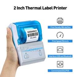 Impresora térmica Bluetooth, impresora de etiquetas de bolsillo, etiqueta adhesiva, impresora térmica de recibos para impresora para punto de venta móvil Android GZL2003