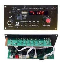 3.7V lithium battery Digital Bluetooth Mono Amplifier Board Microphone Karaoke Amplifiers AUX TF USB FM Recording