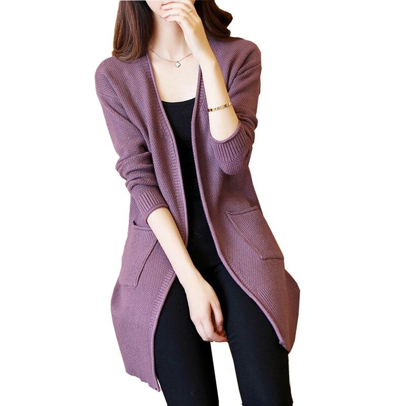 2019 Autumn Winter Cardigan Sweater Women Knitted Coat Women's Sweater Feminine Clothes Long Sleeve Casual Jacket Female R1072