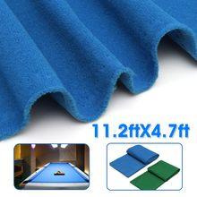11.2X4.7ft зеленый/синий снукер ткань для бильярдного стола бассейн восемь бильярдный шар ткань для бильярдного стола для американского бильярдного снукера аксессуары