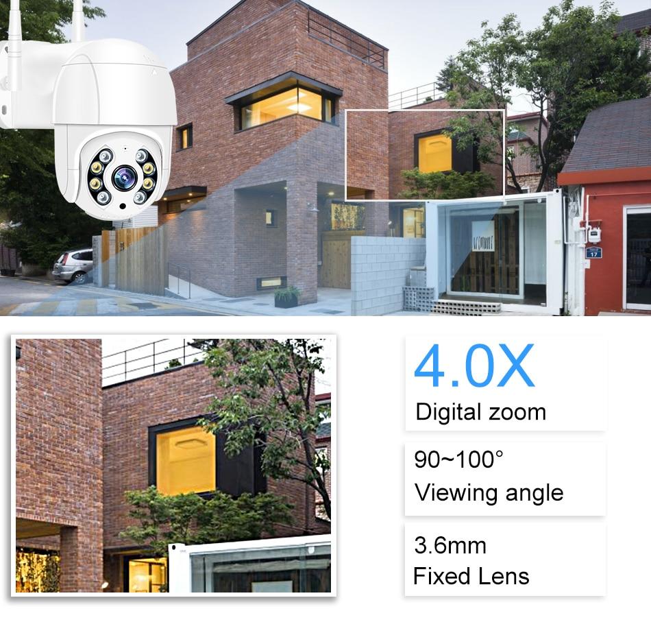 Smar 1080P Outdoor PTZ Wireless IP Camera 4X Digital Zoom Speed Dome Mini WiFi Security CCTV Audio Camera Auto tracking of Human (7)