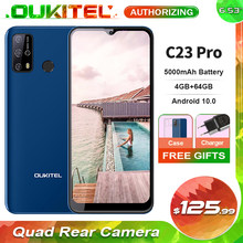 Oukitel c23 pro 4gb + 64gb 5000mah 4g smartphone 6.53 smartphone cameras waterdrop tela 13mp quad câmeras traseiras android 10.0 telefone móvel