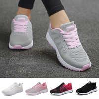 Zapatos Deportivos FLARUT para Mujer zapatos de tenis 2019 con cordones zapatillas planas de malla transpirable de MODA Calzado Deportivo Mujer
