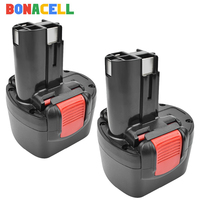 Bonacell 3000mAh 9.6V NI MH BAT048 Rechargeable Battery for Bosch PSR 960 BH984 BAT119 BAT100 BAT001 BPT1041 BH974 2607335260