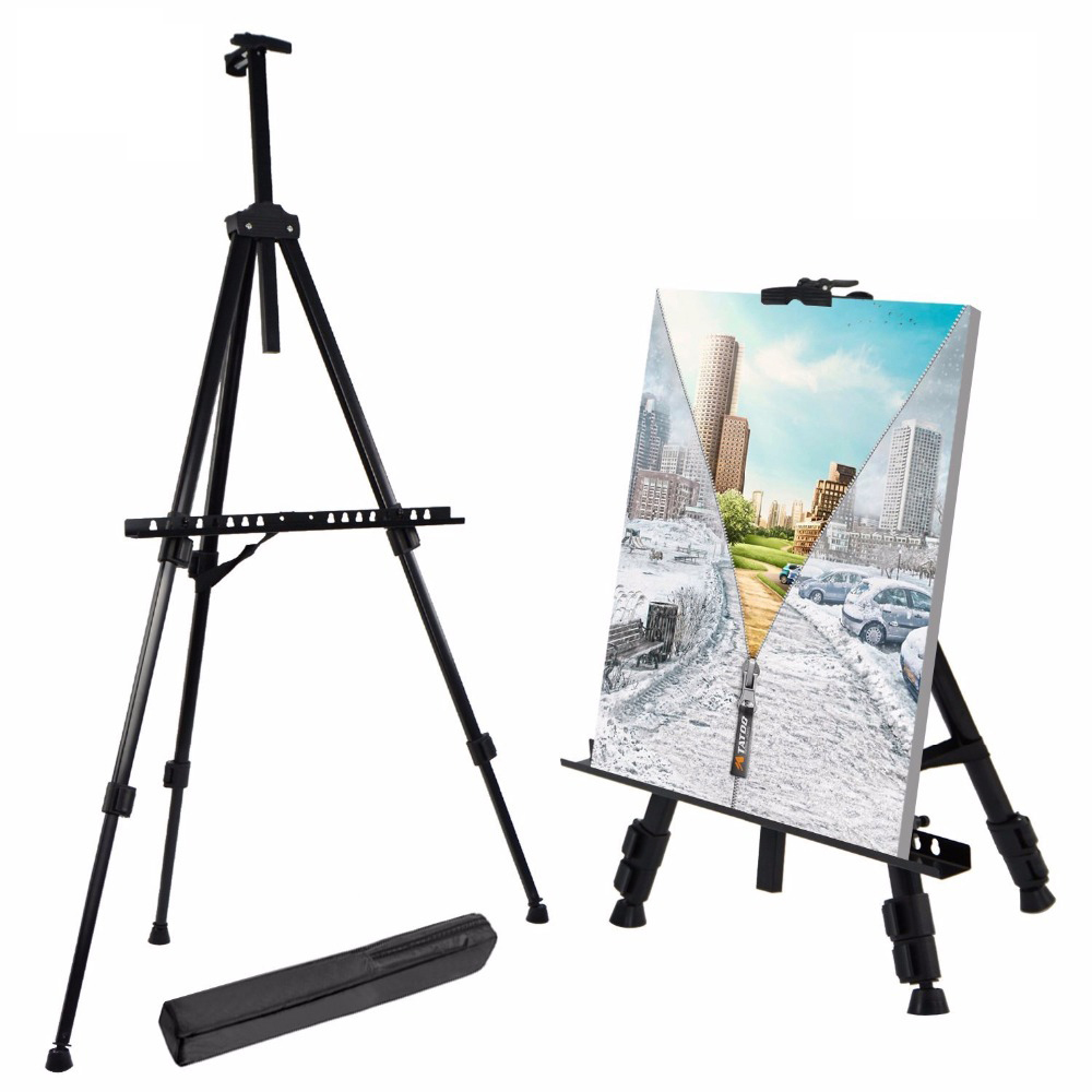 Portable Lightweight Aluminum Easel with Travel Bag