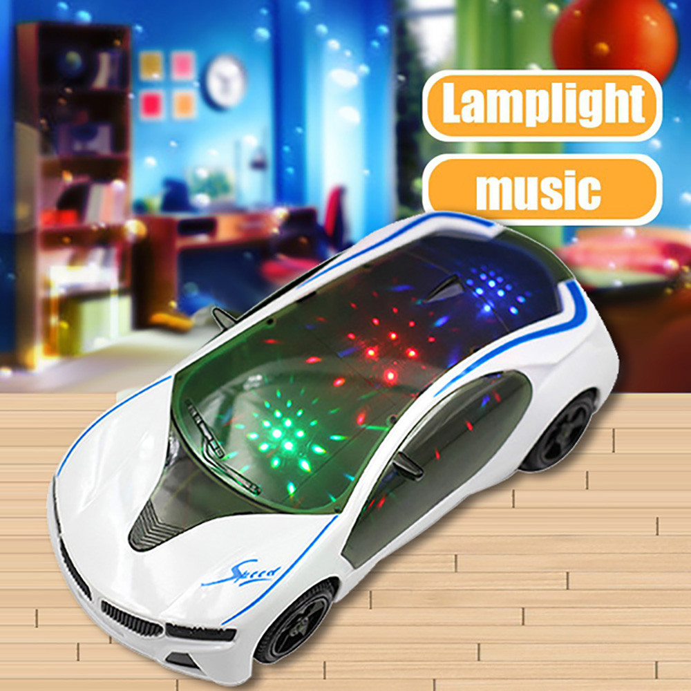 Education For Kids Fun Learning Toys For Children 3D Supercar Style Electric Toy With Wheel Lights&Music Boys Girls GiftW808