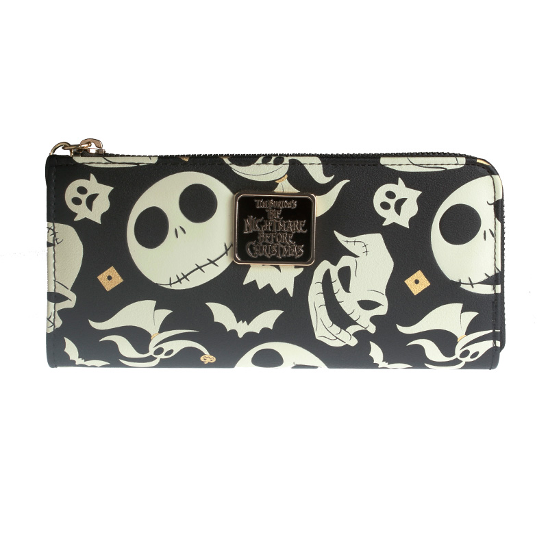 Christmas Night Cry Character Women's Style. Zipper Wallet The Nightmare Before Christmas Purse