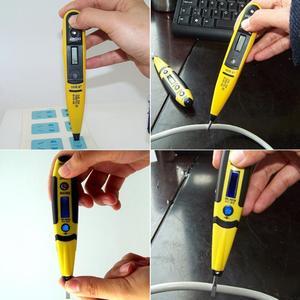 Image 5 - 1個デジタルテスト鉛筆多機能ac dc 12 220vマルチセンサー電気lcdディスプレイ電圧検出器テストペン