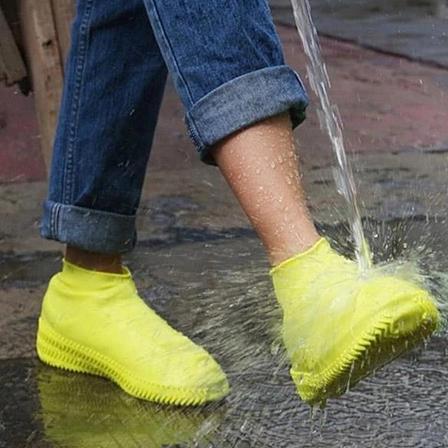 Waterproof rain shoe covers traveling outdoor portable reusable rubber non-slip rain boot overshoes unisex shoes accessories