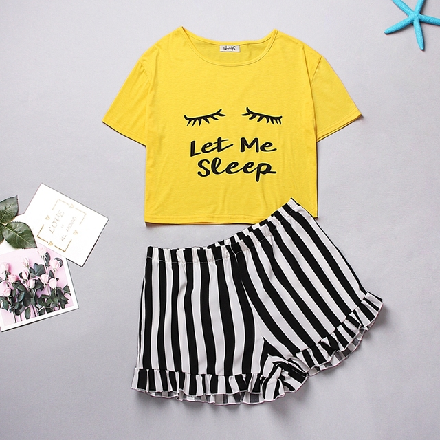 Ladies Printed Shorty Pajama Set 5