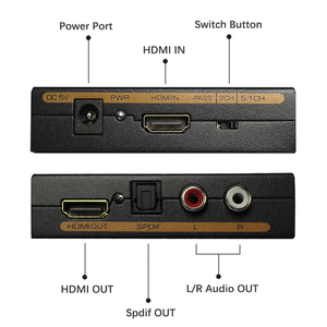 Image 3 - Wiistar hdmi to hdmi &R/L& spdif audio with 2.1/5.1ch hdmi audio extractor free shipping