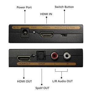 Image 3 - Wiistar hdmi vers hdmi & R/L & spdif audio avec 2.1/5.1ch hdmi audio extracteur livraison gratuite