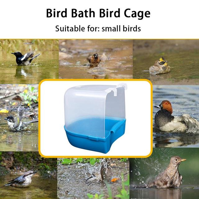 1Pcs Plastic Bath Bird Cage Parrot Supplies Anti-aging Bathing Tub For Small Birds Canary Budgerigar 3