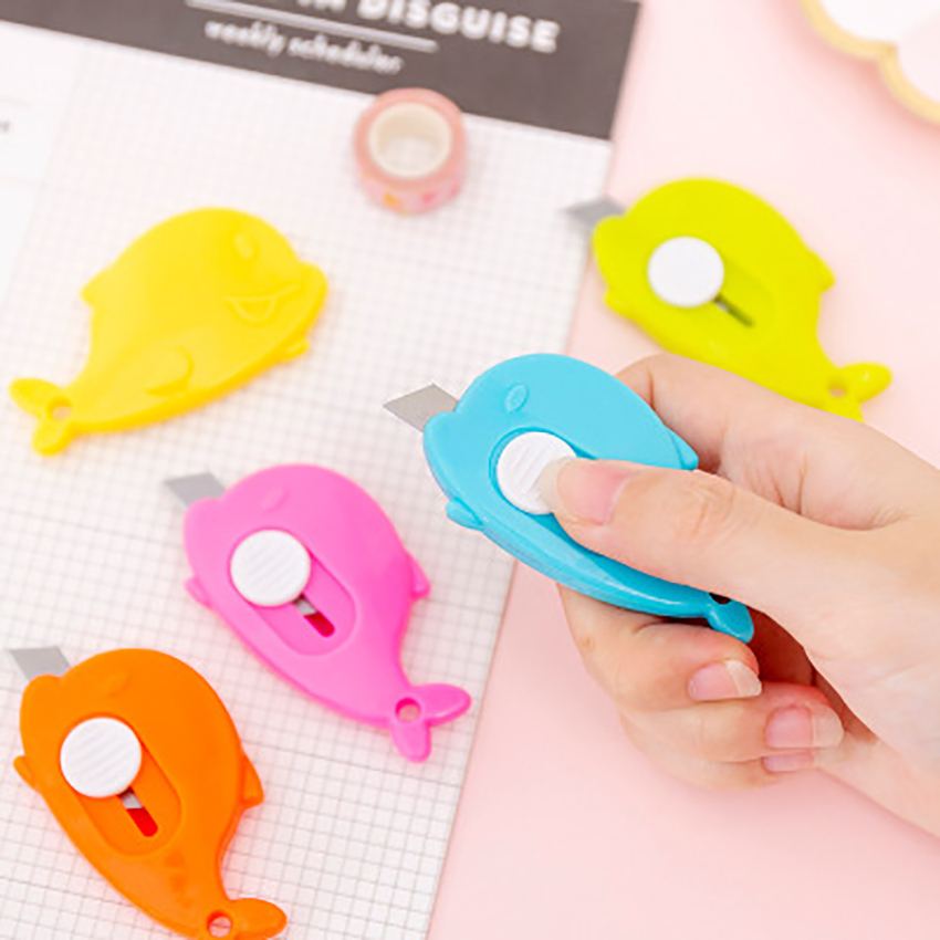 Candy Color Mini Utility Knife Envelope Opener Kids DIY Scrapbooking Paper Cutting Gadgets Students Portable School Stationery