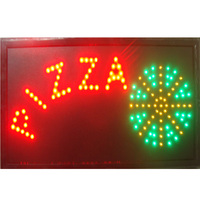 Led pizza sign neon 10x19 inch indoor pizzas store Ultra Bright flashing led sign