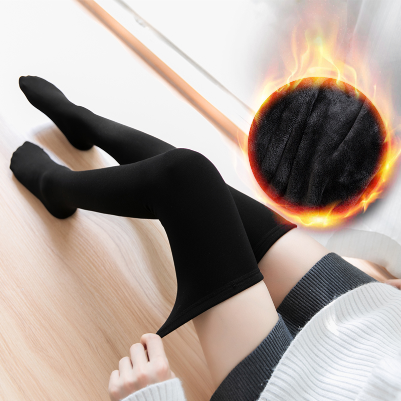 Thick Warm Socks Winter Women Long Stocking Warm Thigh High Socks Ladies Girls Fashion Over Knee Socks Winter Thermal Socks Soft